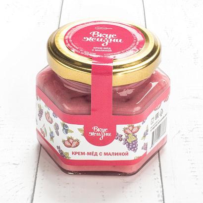 Крем-мёд с малиной Вкус Жизни New 100 гр.