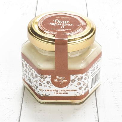Крем-мёд с кедровыми орешками Вкус Жизни New 100 гр.